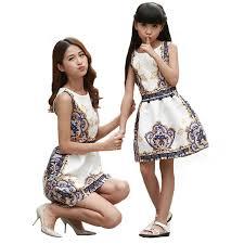 aliexpress buy summer matching dauguter dresses