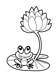 frog lotus flower coloring pages batch coloring