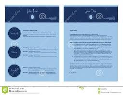 latex resume template moderncv exles modern cv template stock illustration illustration of layout