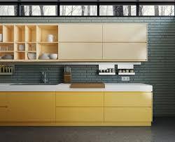 meuble cuisine jaune meuble de cuisine jaune quelle couleur pour les murs