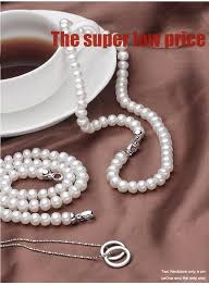 natural freshwater pearl necklace images 100 genuine natural freshwater pearl necklace for women 925 jpg