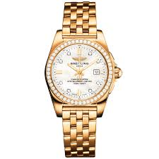 Breitling Galactic 29 18ct Rose Gold Diamond Dial U0026 Bezel Ladies Watch