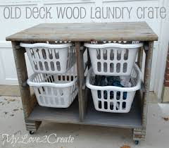wood pallet laundry organizing station diy project the homestead