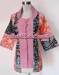 gambar model baju batik modern model baju batik kantor lengan panjang yang fresh dan batik modern
