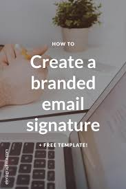 Free Email Signature Templates by How To Create A Branded Email Signature Free Template Graphic
