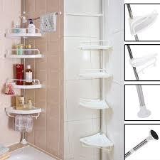 Bathroom Corner Shelving 4 Tier Bathroom Corner Shelf Adjustable Telescopic Shower Shelf