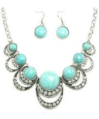 turquoise necklace sets images Turquoise necklace set pink charlie jpg