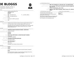Resume Template Libreoffice Curriculum Vitae 2 0 Libreoffice Extensions And Templates Website