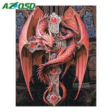 online buy wholesale red dragon painting from china red dragon
