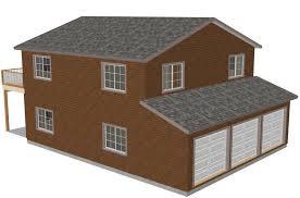 Garage Plans Sds Plans by G318 40x32 2 Story Sds Plans