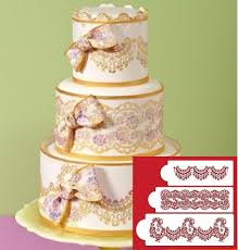 Alecon Lace Cake 3 tier Set Stencil