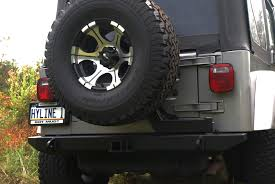 jeep rear bumper jeep tj yj tire carrier ready rear bumper hyline offroad