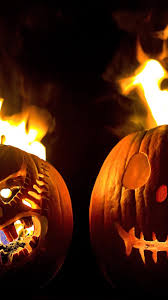 halloween wallpaper pics two halloween pumpkins fire android wallpaper free download