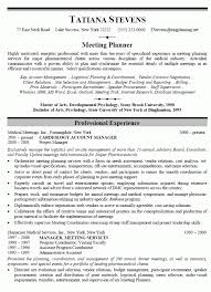 event planner resume event planner resume with no experience event planner resume sle