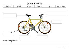 14 free esl bike worksheets