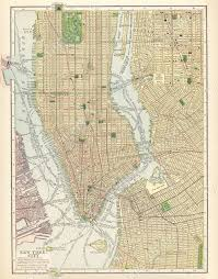 Street Map Of Nyc Old New York City Map Huge Vintage Historic 1910 New York City