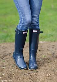 hunter original tall glose wellies boots navy rain boots