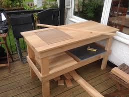 kamado joe grill table plans oak table build for a kj classic do it yourself kamado guru