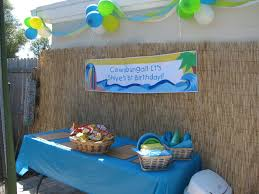 beach themed 1st birthday party home party ideas
