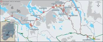 National Parks In Colorado Map by Hardangervidda National Park Route Map Rjukan Norway U2022 Mappery