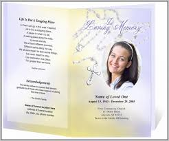 sle of funeral programs funeral program template publisher template resume exles
