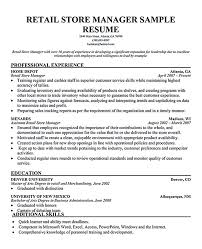 Sample Retail Management Resume by Retail Management Resume Store Manager Resume