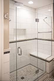 White Shower Door Glass Shower Enclosures Bathroom Renovations