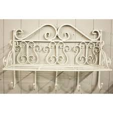 decor white metal entryway shelf with hooks for home furniture ideas