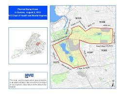 Brooklyn Zip Codes Map by West Nile Virus Spray 2012