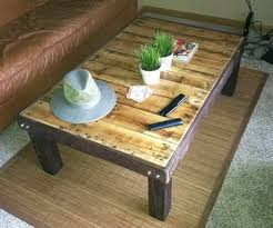 How To Make Patio Furniture Out Of Pallets How To Make A Coffee Table Out Of A Wooden Pallet Easy Low Cost