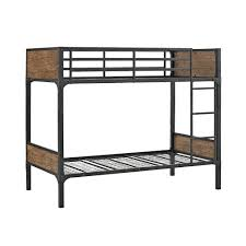 Rustic Bunk Bed Walker Edison Furniture Company Rustic Wood Bunk