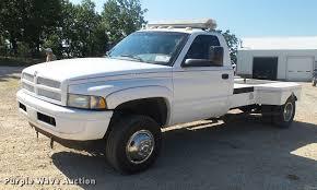 Dodge 3500 Pickup Truck - 1998 dodge ram 3500 flatbed pickup truck item db7451 sol