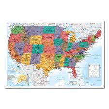 United States Map Poster by Usa Map Pinboard Cork Board With Pins Iposters