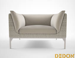 Swing Lounge Chair 3d Dedon Mu Lounge Chair Cgtrader