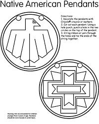 native american pendants coloring page crayola com
