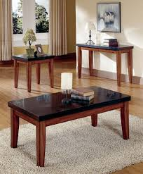 Bedroom Furniture Granite Top Living Room Unstained Maple Wood Small Table With Tall Legs And
