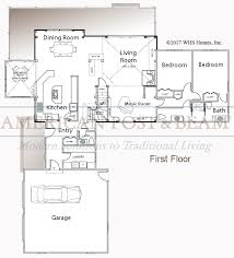 Timberpeg Floor Plans The New London U2013 Post And Beam Floor Plan American Post U0026 Beam