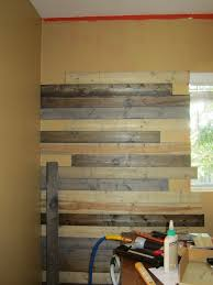 wood feature walls new pine planks stained to look like salvaged