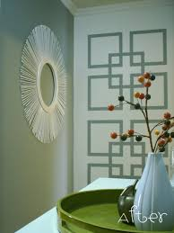 wall paint patterns wall designs with tape interlocking square paint patterns