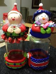 frascos decorados con porcelana fria buscar con google navidad