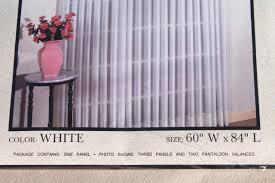 Long White Curtains New Unused Vintage Sheer Voile Curtains Curtain Panels Long White