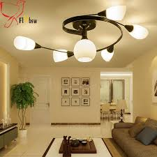 country living room lighting nordic country living room ceiling light modern simple 4 6 light