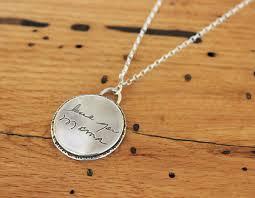 necklace personalized handwritten message necklace custom jewelry heidijhale
