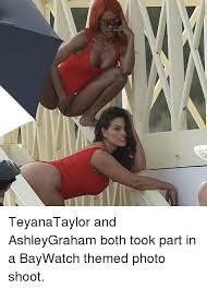 Teyana Taylor Meme - teyanataylor and ashleygraham both took part in a baywatch themed