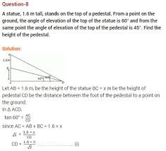 ncert solutions for class 10 maths some applications of