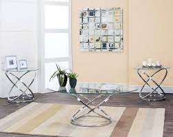 glass coffee and end tables glass metal coffee and side tables gyro 3 piece table set