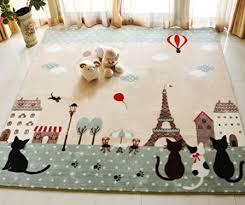 grand tapis chambre fille fleurs et papillons tapis de chambre d enfant ou pour bébé sur