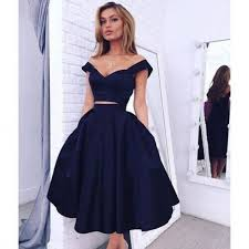 cheap two pieces homecoming dresses party dresses off the shoulder
