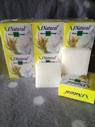 Sabun Vitamin E rice milk soap v sabun beras bpom bagai luluran tiap hari