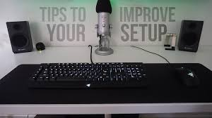 simple tips to improve your desk gaming setup youtube